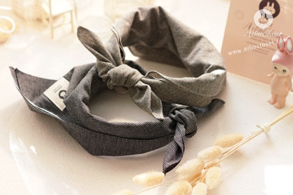 모던하면서도 예쁘게 :) - black & gray stripe baby scarf