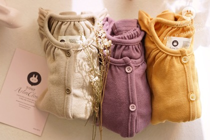 [2차제작] 쪼꼬미, 포근하면서도 향기나게 :) - light beige / violet / yellow baby baby cotton cardigan
