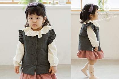 겨울에도 쪼꼬미만 사랑할꼬야 - stripe black cotton 4oz winter baby winter waistcoat