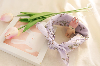 꿈처럼 예쁘던 쪼꼬미의 하루 -  lovely violet baby cotton flower petite scarf