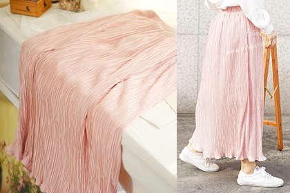 살랑살랑 따스한 바람, 봄날의 그녀 - lovely pink pleats adult skirt (couple item with baby)