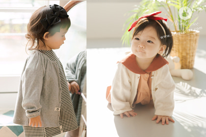 [18차제작] 포근한 촉감의 너 - gray or ivory pure cotton baby cardigan