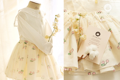 [new10%↓ 03.05, 11am까지] 까꿍~깜찍한 아기 체리야 - so cute cherry baby tutu cotton skirt