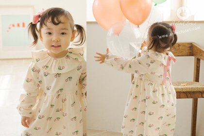 [3차제작] 까꿍~귀여운 아기 체리야 - so cute cherry frill collar baby cotton dress