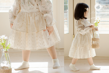 어여쁜 데이지 꽃말은 순수한 마음이래요 - lovely lace pure cotton cancan long overalls baby skirt